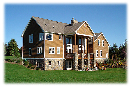 A Conventional Home Log Home Timberframe Home Additions